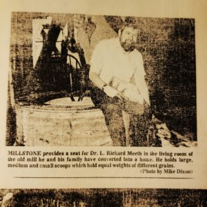 Dr. R. L. Meeth newspaper image sitting in Oseola Mill