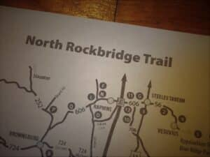 snippet of the North Rockbridge Trail map
