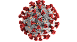 CDC microscopic image of coronavirus